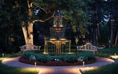 Light Up Your Water Features with LED Outdoor Lighting